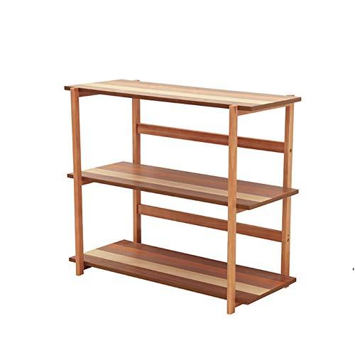 XIA Support de finition en bois 85 * 38.7 * 73cm de bibliothèque de plateau de table d'appoint de 3 niveaux