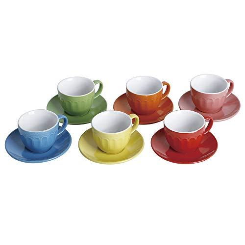 Class Home 979, Jogo De Xicara Cafe Colors 12 Pcs Multicolor