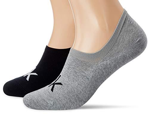 Liner-Socken mit Logo für Herren von CALVIN KLEIN - Grau Melange / Schwarz - 43/46