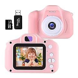 Fotocamera per bambini, Fotocamere digitali per bambini 2.0 pollici con scheda TF da 32 GB 5MP HD 1080P Video HD USB ricaricabile antiurto e giocattolo da esterno anti-goccia per 3-12 anni