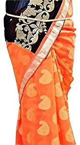 WomenSky Gold Plated Plain Chain with Pearl Latken Waistchain/Kamarband/Ottiyanam for Women and Girls Wear On Saree/lahnga/Jense and Ethnic Wear