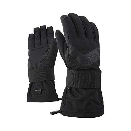 Ziener Erwachsene MILAN AS glove SB Snowboard-Handschuhe, black hb, 8.5 (M)