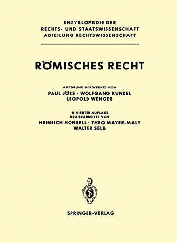 Römisches Recht (Enzyklopädie der Rechts- und Staatswissenschaft)