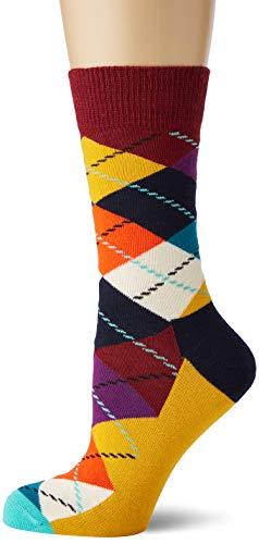 Happy Socks Damen Argyle Socken, Mehrfarbig (Multicolour 270), 4/7 (Herstellergröße: 36-40)