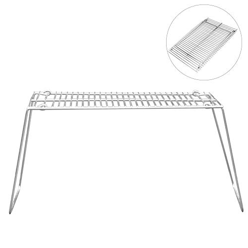 Lixada Outdoor Portable Folding Charcoal BBQ Grill Stainless Steel Picnic Barbecue Camping Pot Stand Support Stove Rack