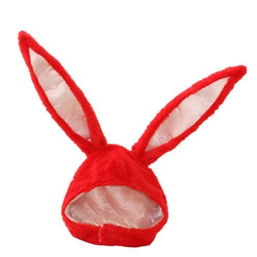ABOOFAN Gorro de Conejo de Pascua con Orejas de Conejo de Peluche Encantador Gorro Cosplay con Orejas de Animal Sombrero con Orejas de Conejo para Decoración de Fiesta de Pascua de