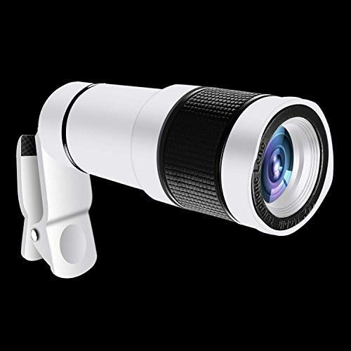 ITRUE 14X Zoom 4K HD Telephoto Phone Lens Monocular Telescope Camera for iPhone Android Smartphone Mobile,White
