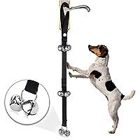 M108 720P 6400mAh Smart WIFI Video Visual Doorbell ペット犬の訓練の鐘ナイロンロープの牽引ロープのドアベルの鎖の犬7本の鐘が付いている反失われた鐘 Phone Remote Monitoring&Real-time Voice Intercom (色 : Black)