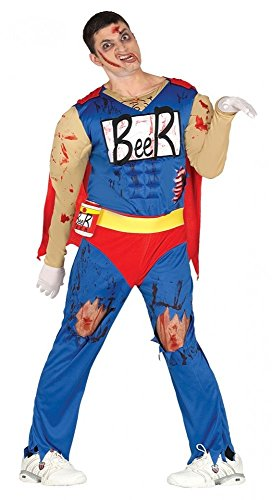 shoperama Herren Kostüm Zombie Biermann Duff Beer Man Bier-Mann Halloween Comic Horror, Größe:M