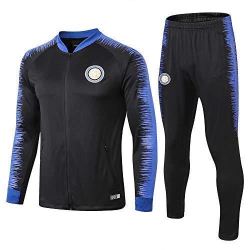 WLKJ Boutique Erwachsene Sportbekleidung Fußball Uniform Club Training Anzug Jacke Full Zipper Schwarz @ Photo Color_L
