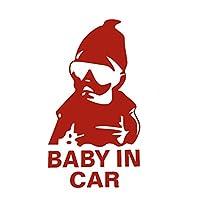 prasku 車の車体ウィンドウのバンプラフィックステッカーデカール面白いSiマーカーの装飾 - 車の中で赤い女の子の赤ちゃん