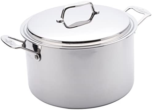 USA Pan Cookware 5 Ply Stainless Steel 8 Quart Stock Pot with Cover Oven and Dishwasher Safe product image