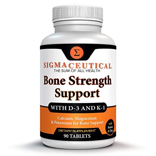 Bone Strength Calcium Magnesium Supplement - Bone Health Boron Supplement - Calcium Citrate w/ Vitamin D3 - Calcium Carbonate - 90 Tablets New York
