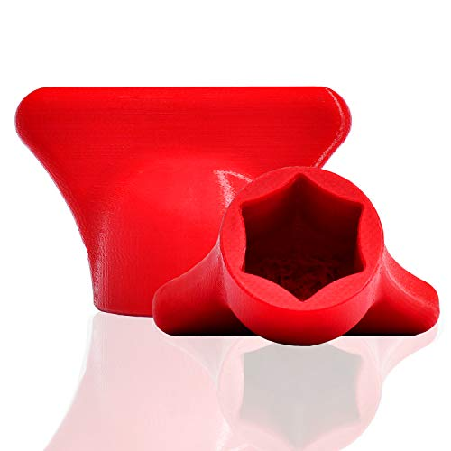 mix-slider - Teigblume für Thermomix, Teiglöser Zubehör für Vorwerk Küchenmaschine TM5 + TM6 3D gedruckt Made in Germany (Rot)