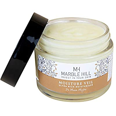 Anti-wrinkle, anti-ageing cream for mature and very dry eczema-prone skin. Argan, Jojoba, Shea Butter, Vitamin E. Organic, Vegan and Cruelty Free, developed by Dr Maria McGee MB ChB - 45grm jar by Marble Hill