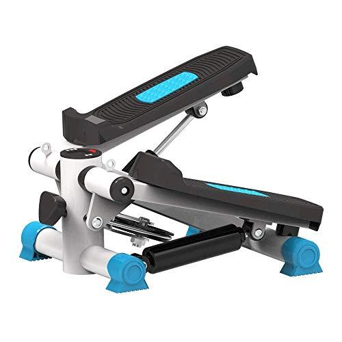 Hammer Entrenadores, Pedal Entrenador elíptico Paso a Paso de la máquina, Zona Ciclo Bicicleta estática w/Resistencia y LCD Ajustable del Monitor en Casa y OfficeWorkout (Color : Blue)
