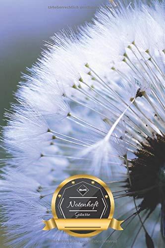 Notenheft Gitarre: Pusteblume • Löwenzahn • Sommer Frühlings Natur Motiv • Musikheft mit Gitarren Tabs • 100 Seiten ║ Schreibheft - ca. DIN A5 Format ║ kleines Geschenk für Freunde • von Stud10