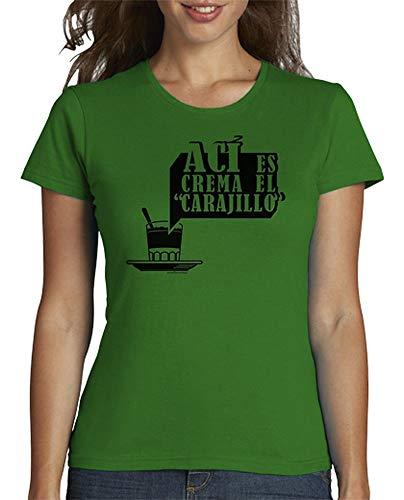 latostadora - Camiseta AC para Mujer Verde M