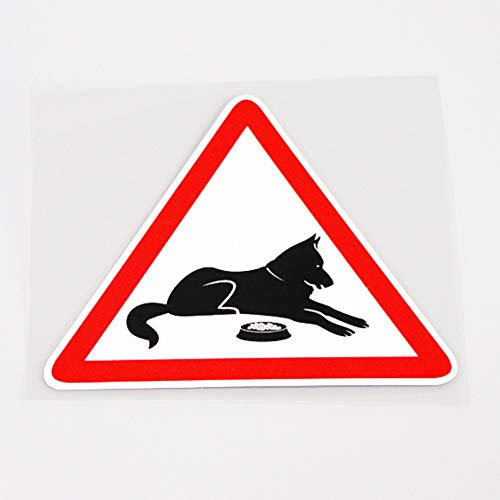 MCTYLI 12 cm * 10,5 cm voor hoogwaardige pvc-hond, die door voedsel autosticker sticker