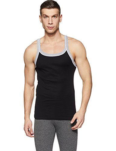 Hanes Men's Plain Cotton Vest (Colors May Vary) (F665_Assorted_Large)