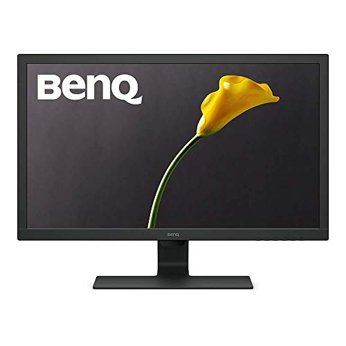 BenQ 24 Inch 1080P Monitor | 75 Hz for Gaming | Proprietary Eye-Care Tech |Adaptive Brightness for Image Quality | GL2480,Black