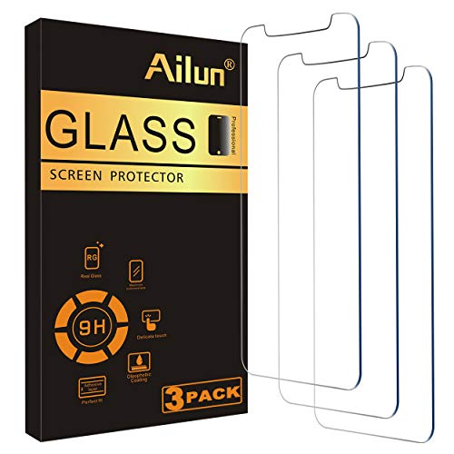 Ailun Screen Protector Compatible for iPhone XS, iPhone X, iPhone 11 Pro,3 Pack,5.8 Inch Display Case Friendly Tempered…