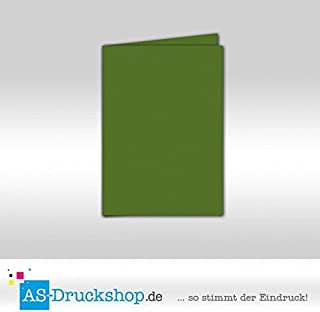 Faltkarte Doppelkarte - Tannengrün 100 Stück DIN A5 B0794X3M17  Saisonale Förderung