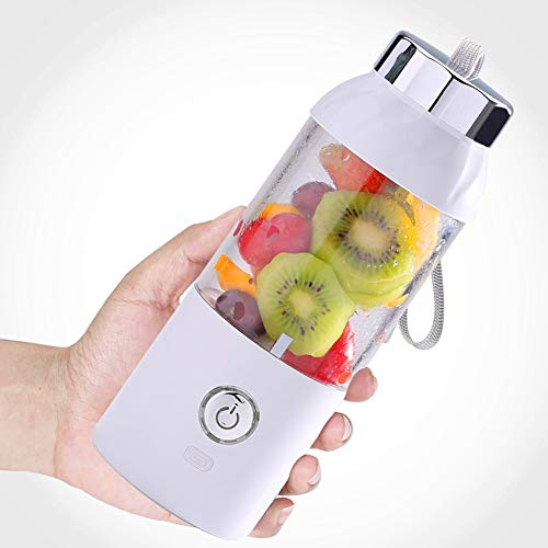 Read About Portable Blender, Personal Smoothie Mini Juicer Cup Fruit Mixing Machine USB Rechargeable Juicer Cup Detachable Office/Sports/Trip