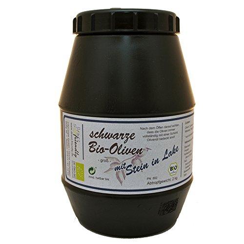 direct&friendly Bio Oliven schwarz mit Stein in Lake Kalamata (2 kg Kanister)