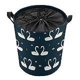 Cesta de lavandería plegable grande, cesta plegable para la colada, cesta de lavandería plegable, cesta de lavado plegable Swan Love