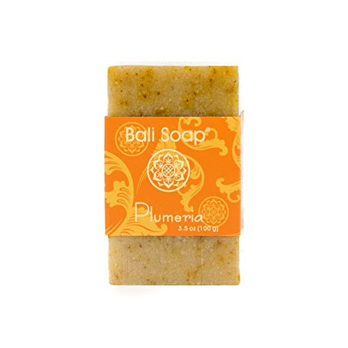 Bali Soap - Plumeria Pack of 3, Natural Soap Bar, Face or Body Soap Best for All Skin Types, For Women, Men & Teens, 3.5 Oz each