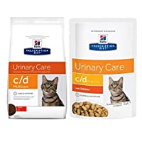 HILL'S PRESCRIPTION DIET FELINE C/D MULTICARE URINARY CARE WITH CHICKEN helps to keep the urinary tract healthy and lessens the risk of struvite stones. Many cats suffer from FLUTD (Feline Lower Urinary Tract Disease), a complex, painful disease of t...
