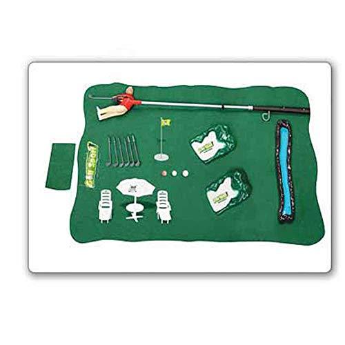 ISAKEN Minigolf Für Zuhause, Mini Indoor Golf Player Pack, Mini Golf Pro Set Spielzeug Lernsportspielzeug Golf Pro Set Spielzeug Eltern-Kinder-Interaktionsspielzeug, lustiges Indoor Golfspiel Set