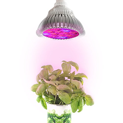 Apollo Horticulture 24W LED Grow Light w/Red & Blue LED Spectrum for Indoor Plant Growing