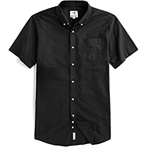 Men's Short Sleeve  Button Down Casual Shirt