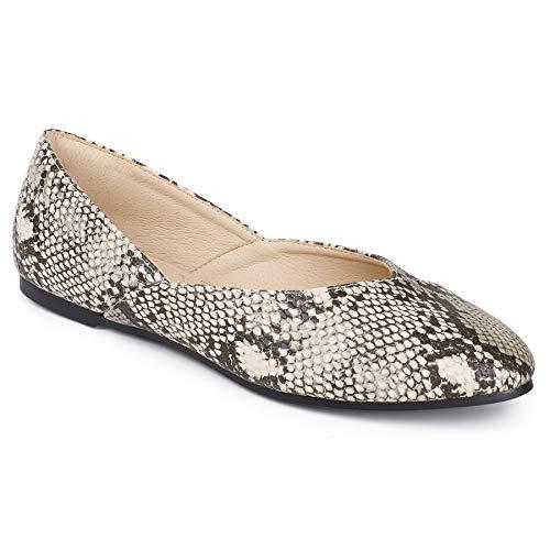 Top 10 best selling list for ladies flat snakeskin shoes