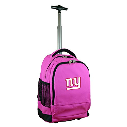 Denco NFL New York Giants Wheeled Backpack, 19-inches, Pink