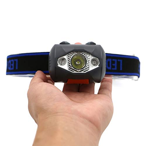 ZQQ Linternas Frontales, Super Brillante Linterna Frontal con Pilas Impermeable Iluminación Blanca Rojo/Modos De Faro para Running Acampa Yendo De Caza