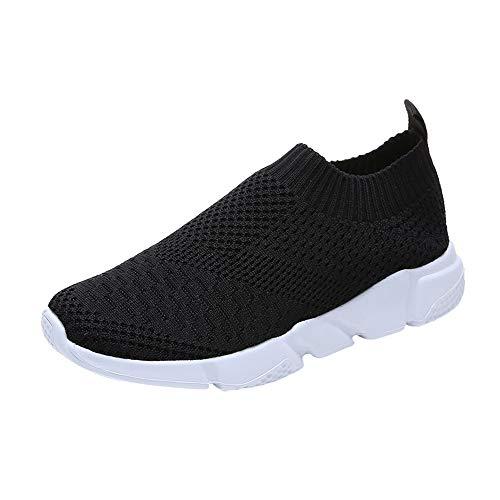 Luckhome Sicherheitsschuhe Herren Arbeitsschuhe Damen Leicht Mesh Atmungsaktiv Schutzschuhe Sneaker (Schwarz,EU:39)