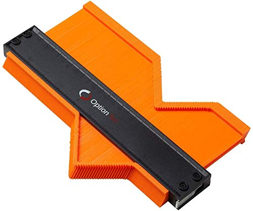 OptionTec - Konturenlehre mit Feststeller (25cm) | Mess- & Planwerkzeuge für einfaches Heim- und Handwerken