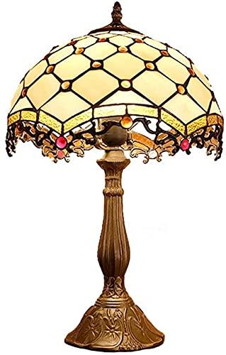 SXCDD Lámparas de Escritorio para Oficina 12 Pulgadas Tiffany Lámpara de Mesa Vintage Pastoral vitral