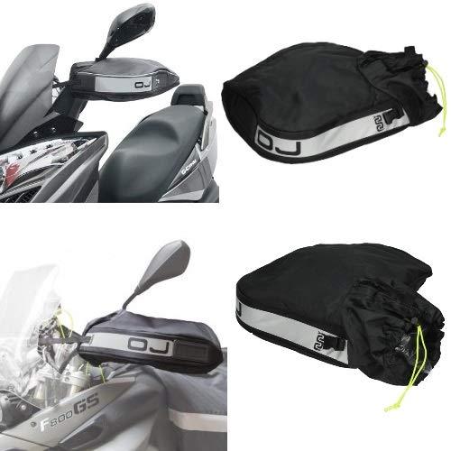 Compatible con Piaggio Vespa 50 4M Manguitos TÉRMICO Impermeable OJ C007 Pro Hand Plus PARAMANS para Motocicletas Scooter UNIVERSALES Cubierta Acolchada