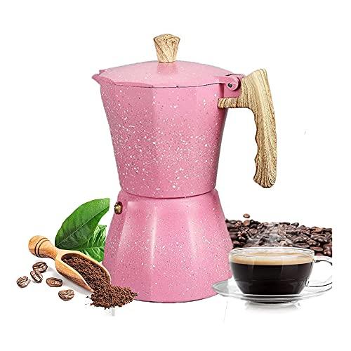 Kamenda Stovetop Espresso Maker - Cafetera Moka Pot para Estufa de Gas o EléCtrica - 3 Tazas Espresso Shot Maker para...
