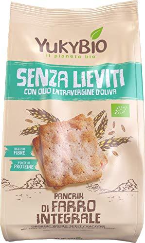 8 x Yukybio Crackers Pancrik di Farro integrale 200g