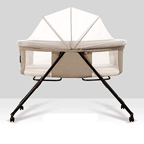 Best Buy! Crib Foldable Crib Portable Baby Bed Multi-Function Newborn Cradle Bed Removable and Washa...