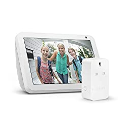 """This bundle includes an Echo Show 8 and an Amazon Smart Plug - everything you need to start your smart home. Alexa can show you more: with an 8"""" HD screen and stereo sound, Alexa can help you manage your day at a glance. Control your smart home: voic..."""