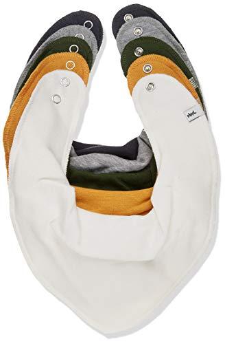 Pippi Unisex Baby 5er Pack Lätzchen Dreieckstücher Halstuch, Elfenbein (Marshmallow White 111), (Herstellergröße:One Size)