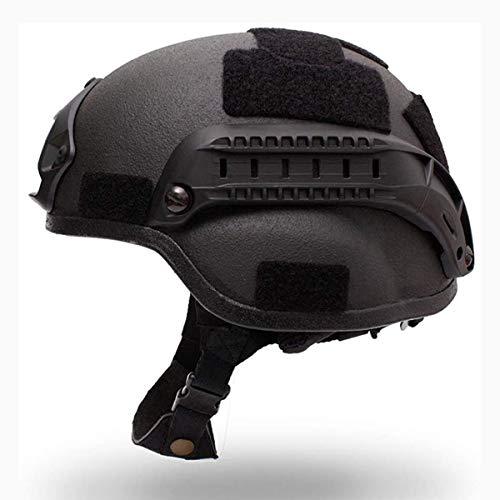 Casco a prueba de balas de nivel 3 Kevlar, equipo de seguridad personal Tactical Casco protector, con sistema de amortiguación de ajuste de la cabeza y la cola del sistema anti-vibración ✅