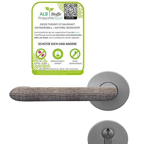 ALB Stoffe® ProtectMe Touch, 4er Pack Türklinken Schutz, selbst desinfizierend, 100% Made in Germany, passt in jeder Form, waschbar und unbegrenzt wiederverwendbar, mit Sicherheitszertifikat
