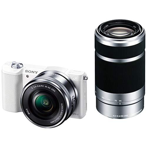 ソニー SONY ミラーレス一眼 α5100 ダブルズームキット E PZ 16-50mm F3.5-5.6 OSS + E 55-210mm F4.5-6.3 ...